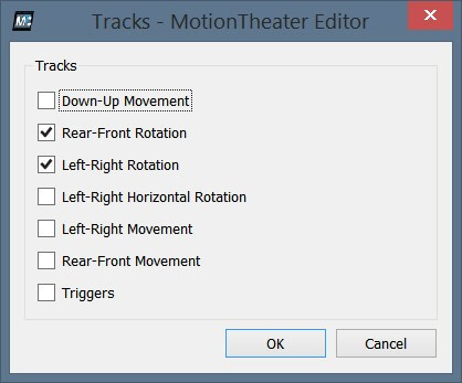 MotionTheater Tracks Configuration