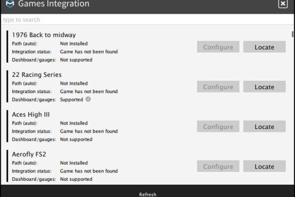 ForceSeatPM Games Integration
